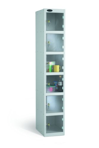 Probe Six Compartment Clear Door Single Nest Locker - 1780 x 305 x 305mm