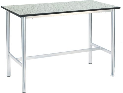 Metalliform Premium H Frame School Craft/Laboratory Table With Trespa Top - 1200 x 600mm