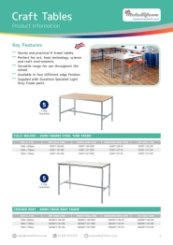 Craft Tables Data