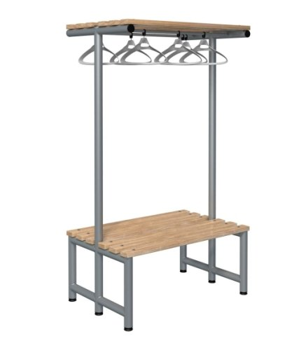 Probe Cloakroom Double Sided Overhead Hanging Bench 1000 x 720 x 475mm
