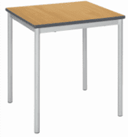 Metalliform Fully Welded Spiral Stacking Square Table - 600mm