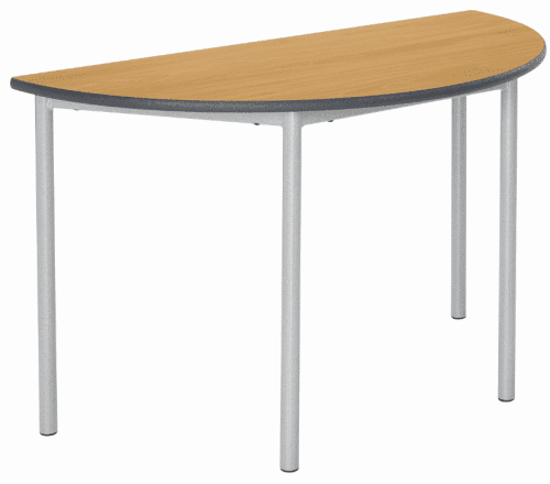 Metalliform Fully Welded Spiral Stacking Semi Circular Table - 1100 x 550mm