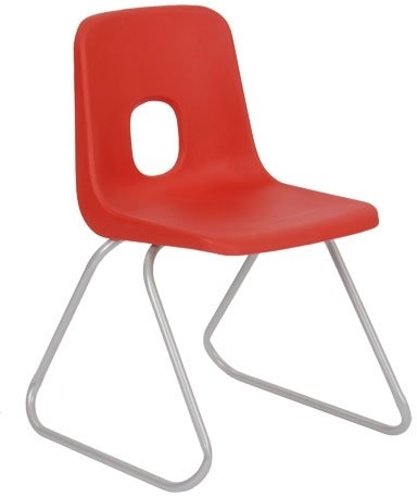 Hille E-Series Skidbase Chair - Seat Height 350mm