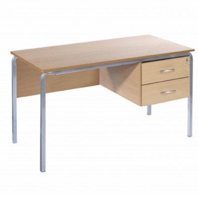 Metalliform Teachers 3 Drawer Pedestal Desk PU Edge - 1200mm x 600mm