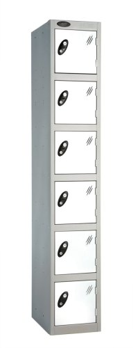 Probe Six Door Single Steel Lockers - 1780 x 305 x 305mm