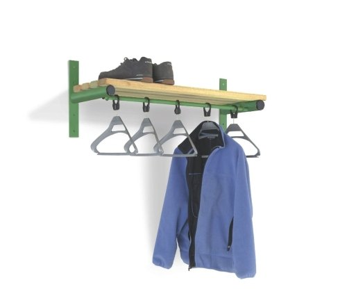 Probe Cloakroom Wall Mounted Shelf & Rail 1500mm Length