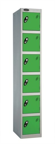 Probe Six Door Single Steel Lockers - 1780 x 305 x 380mm