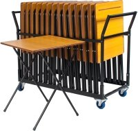 ZLITE 24 Premium Folding Exam Desk and Trolley Bundle