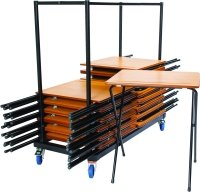 ZLITE 40 Premium Folding Exam Desk and Trolley Bundle